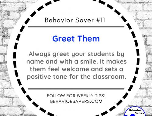 Behavior Saver #11-Greet Them
